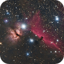 Flame and Horsehead at 135mm,                                Ben