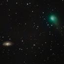 Comet C2017-T2 PANSTARRS and NGC 3953,                                kvedala