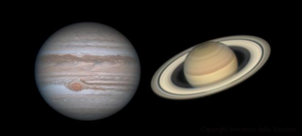 Jupiter and Saturn in opposition,                                Vincenzo della Ve...