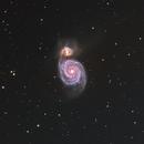 M51 Whirlpool Galaxy in LRGBHa,                                Girish