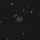 Cartwheel galaxy with OSC camera from bright sky - EdgeHD11 ASI183mc f/7,                                Freestar8n