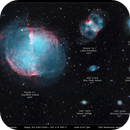 Planetary nebulas size comparasion (mosaic),                                  Łukasz Sujka