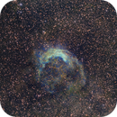 NGC 3199 In Three Views:  Pure LRGB (View B),  LRGB Enhanced by Ha, O3 (View A) and  Narrow Band Mapped in HST Palet (View C),                                Fernando
