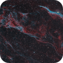 Western Veil Nebula in Hydrogen Alpha and OIII Light - data from Deep Sky West,                                  Dean Jacobsen