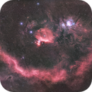 Barnard's Loop/Orion Molecular Cloud Complex 4 Panel Mosaic in HaRGB,                                nerdybeardo