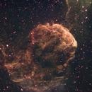IC443 Jellyfish Nebula SHO crop,                                HaSeSky