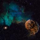 Sh2-248 & 249 (IC443 &444) - The Jellyfish Nebula in Gemini - SHO,                                Daniel.P