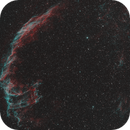 Eastern Veil Nebula - Hydrogen Alpha and Oxygen III Mapped Color Image,                                  Dean Jacobsen