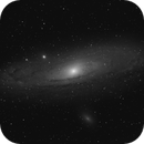 Andromeda M31 from Northern Denmark (Nordjylland) Black/White,                                pptw