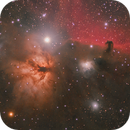 B33 - IC434 - NGC2024, Nebulosas Cabeza de Caballo y la Flama,                                Victor Matamoros Alcaino