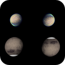 Mars 27 Feb 2020 - 5 min stack with reference globe,                                Seb Lukas
