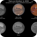 Mars on October 4, 2020 (RGB and IR),                                JDJ