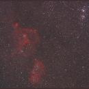 Heart and Soul Nebula + Double Cluster h+chi - Ausschnitt,                                Paul Schuberth