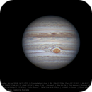 Jupiter 24 Apr 2018 14:21 UTC - North up,                    Seb Lukas