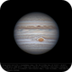 Jupiter 24 Apr 2018 14:21 UTC - North up,                                Seb Lukas