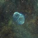 NGC 6888 Crescent Nebula and Soap Bubble (Cygnus) in the SHO Palette,                                Ben Koltenbah