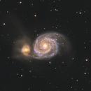 "M51 RGB - 8"" NEWT + ASI 183MM Pro,                                Chris R White"