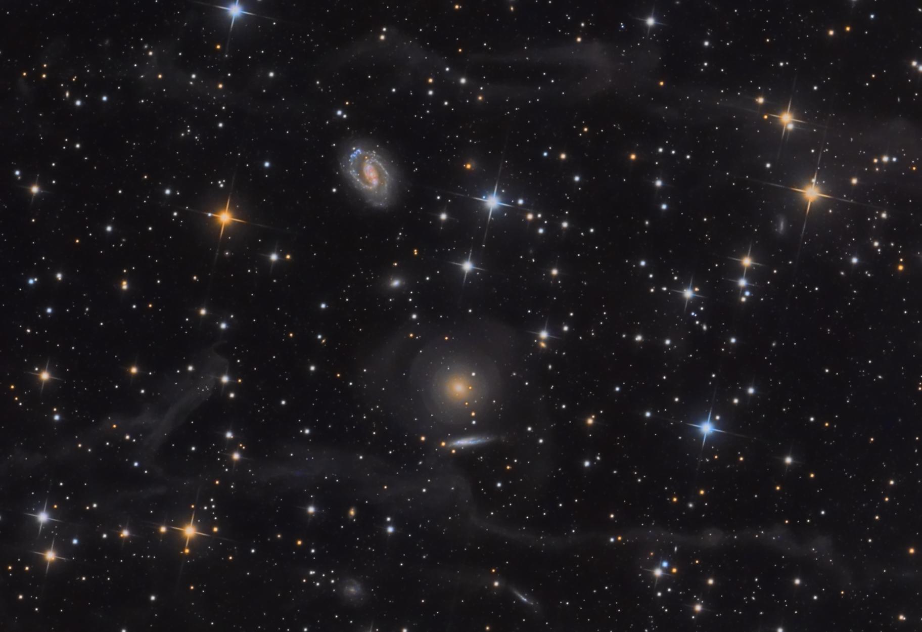 NGC 2634, NGC 2634 and wisps of IFN,                                Salvatore Iovene