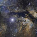 The Butterfly Nebula - IC 1318 - SHO,                                Arringar