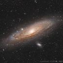 M31 - La galaxie d'Andromède HaRVB,                                AstromaC