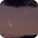 Moon and Venus Crescent,                                Mike Miller