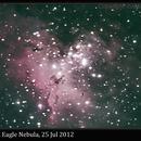 M16, Eagle Nebula, No Focal Reducer, 25 Jul 2012,                                David Dearden