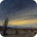 Startrails over  Coyote Canyon and Santa Rosa Mountains,                                Tom Robbe