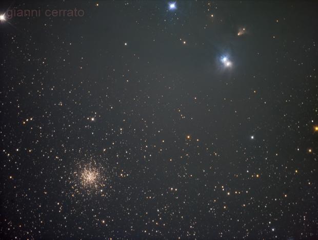 NGC 6729, NGC 6726, NGC 6723 in Corona Australis,                                Gianni Cerrato