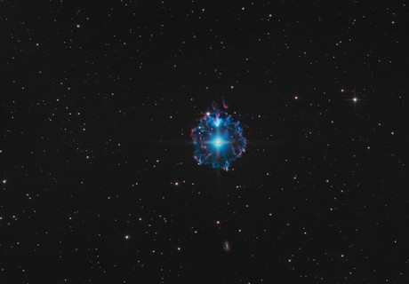 Cat's Eye Nebula, under urban conditions and full moon,                                  Thomas Richter