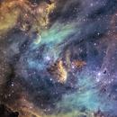 IC2944 – The Running Chicken Nebula – Hubble Pallete,                                Terry Robison