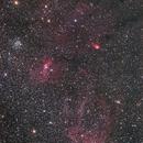 Bubble Nebula and Clew Nebura,                                Ken-ichiro Tanaka