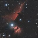 The horsehead and Flame Nebula,                                spudrick