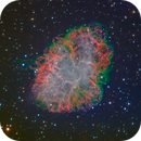 Crab Nebula (Messier 1) from Liverpool Telescope; Seeing through the Structure,                                Miles Zhou