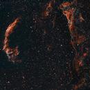 Veil Nebula - mosaic H-HO-O,                                HaSeSky