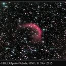 Sh2-188, Dolphin Nebula, OSC, 11 Nov 2015,                                David Dearden
