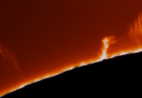 The Sun Bursting With Activity Today,                                Chuck's Astrophot...