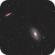 Messier 82 and Messier 81 @ Test NoN  second try,                                Wolfgang Zimmermann