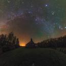 Winter Milky Way over the Church,                                Łukasz Żak