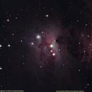 M43 De Mairan's Nebula and Running Man Nebula,                                Uri Abraham