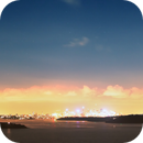 Comet McNaught and the Moon Sydney 2007 Panorama,                                Ian Parr
