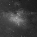 M 16 The Eagle Nebula Ha Only,                                Greg Ray