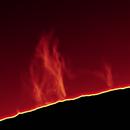 Sun H Alpha (Animation) Proms on 2021-04-25 10:30 UTC,                                Ruediger