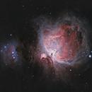 M42 Orion Nebula 20210228 12870s HaRGB 01.8.4,                                Allan Alaoui
