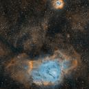 Le nebulose Laguna e Trifida in Hubble Palette,                                gagba