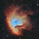 NGC 281 - Pacman Nebula in BiColor HOO,                                Girish