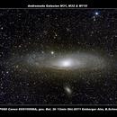 Andromeda Galaxien M31, M32 & M110,                                Berthold Schneider