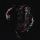 Veil nebula, galactic volutes in edge of universe (Ha/OIII_HOO),                                *philippe Gilberton