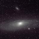 Experiment: M31 on a Goto Alt Az.  WITHOUT dark frames calibration,                                Tej Dyal