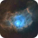 M8 -Lagoon Nebula in Narrowband,                                theoatc