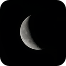 Waning crescent moon,                                James Muehlner